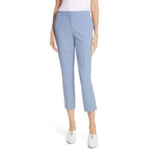 Nordstrom Sz 4 Slim Stretch Crop Pant Light Blue